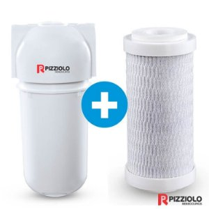 "Kit Filtro Purificador De Água 200 BR  + Elemento Filtrante Carbon Block 7"" Pizziolo"