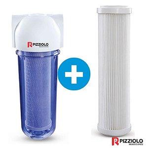 "Kit Filtro Purificador De Água 230 TR  + Elemento Filtrante Plissado 9"" Pizziolo"
