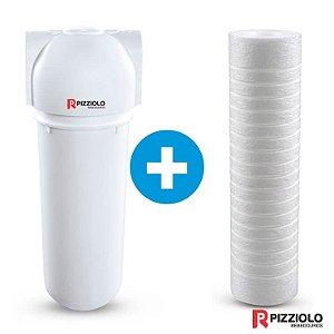 "Kit Filtro Purificador De Água 230 BR  + Elemento Filtrante Ranhurado 9"" Pizziolo"