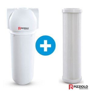 "Kit Filtro Purificador De Água 230 BR  + Elemento Filtrante Plissado 9"" Pizziolo"