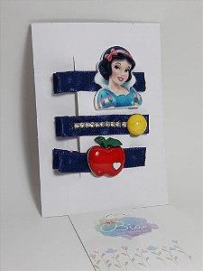 Hair Clip Kits com 3 peças Branca de Neve