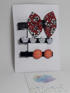 Hair Clip Kits com 3 peças coroa branca