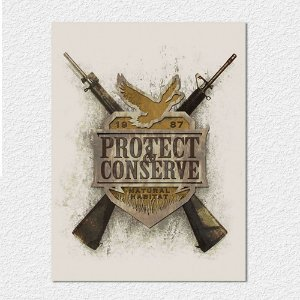 Placa Protect & Conserve