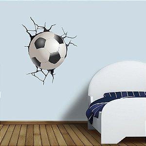 adesivo de parede crashed ball 3d