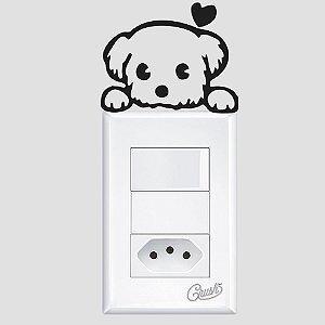 adesivo de parede interruptor doguinho xitsu amoroso