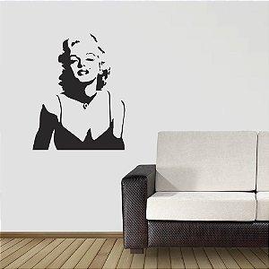 adesivo de parede silhueta marilyn