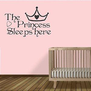 adesivo parede the princess sleeps here