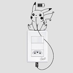 adesivo de parede interruptor  pikachu loading