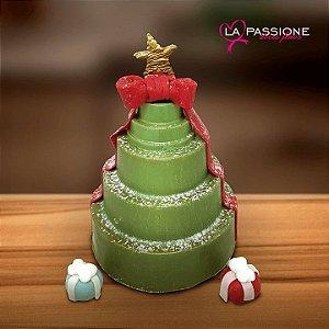 Árvore de Natal de Chocolate recheada com Chocotone e Brigadeiro 370grs