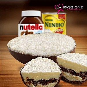 Ovos de Páscoa com Brownie de Nutella e Leite Ninho