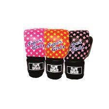 Luva de Muay Thai / Boxe INFANTIL SUPER GIRL-Rosa