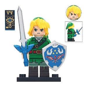 Boneco Link Zelda Breath of The Wild Games Bloco de Montar