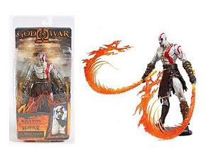 Action Figure God of War Kratos Flaming Blades