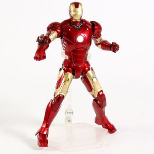Action Figure Homem de Ferro Iron Man Mark III com Luz