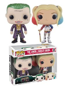 Funko Pop Suicide Squad The Joker e Harley Quinn Metálico Exclusivo 2-Pack