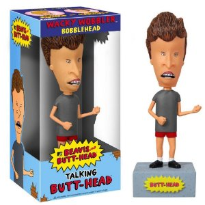 Wacky Wobbler Bobble Head Talking Butt Head