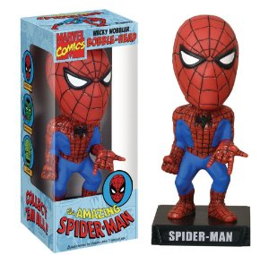 Funko Wacky Wobbler Bobble Head Marvel Homem Aranha Spider-man