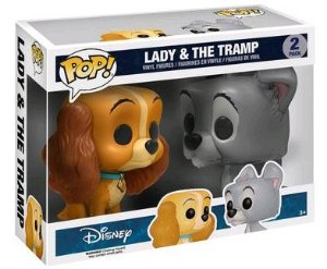 Funko Pop Disney A Dama e o Vagabundo Lady And Tramp 2-Pack