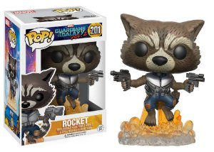 Funko Pop Marvel Guardiões das Galáxias Vol 2 Rocket #201