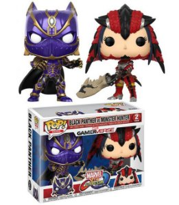 Funko Pop Marvel vs Capcom Black Panther e Monster Hunter 2-Pack