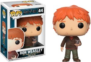 Funko Pop Harry Potter Ron Weasley With Scabbers #44