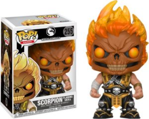 Funko Pop Mortal Kombat XL Scorpion Flaming Skull Exclusivo #255