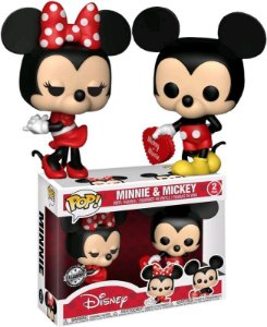 Funko Pop Disney Mickey e Minnie Valentine 2Pack Exclusivo