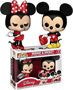 Funko Pop Disney Mickey e Minnie Valentine 2Pack Exclusivo