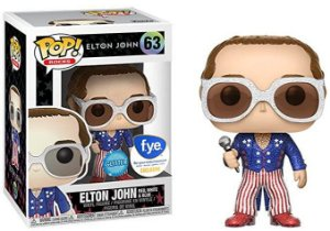 Funko Pop Elton John Red White and Blue Glitter Exclusivo Fye #63