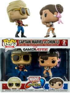 Funko Pop Marvel vs Capcom Captain Marvel vs Chun-Li 2-Pack