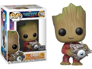Funko Pop Marvel Guardiões da Galáxia Vol 2 Groot Cyber Eyes Exclusivo #280