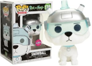 Funko Pop Rick and Morty Snowball Flocked Exclusivo #178