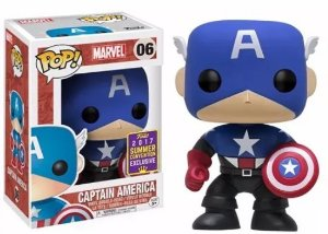 Funko Pop Marvel Capitão América Civil War Exclusivo SDCC #41