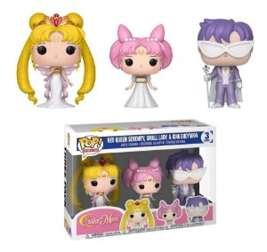 Funko Pop Sailor Moon Neo Queen, Small Lady e King Endymion 3-Pack