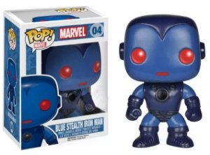 Funko Pop Marvel Blue Stealth Iron Man Exclusivo #04