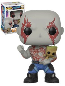 Funko Pop Marvel Guardiões da Galáxia Vol 2 Drax w/ Groot #262