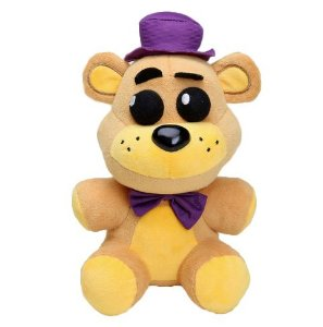 Pelúcia Five Nights At Freddys Freddy Chapéu Roxo