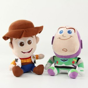 Pelúcias Toy Story Wood e Buzz Lightyear 2 Pcs