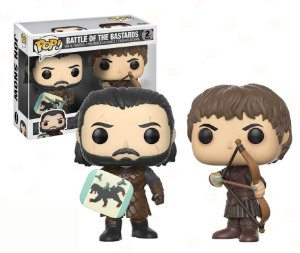 Funko Pop Game of Thrones Battle of The Bastards Jon Snow e Ramsay Bolton