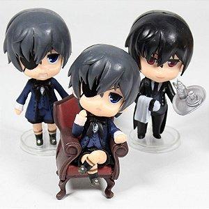 Black Butler Kuroshitsuji Set c/ 3 Action Figures
