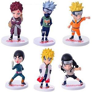 Naruto Uzumaki Kakashi Gaara Minato Set c/ 6 Action Figures