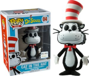 Funko Pop Dr Seuss Cat in The Hat Exclusivo Flocked #04