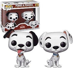 Funko Pop Disney 101 Dalmatas Pongo e Perdita 2-Pack Exclusivo