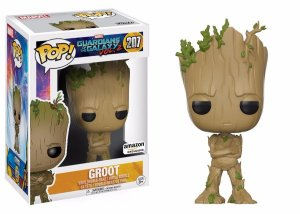 Funko Pop Marvel Guardiões da Galáxia Vol 2 Groot Adolescente Exclusivo #207