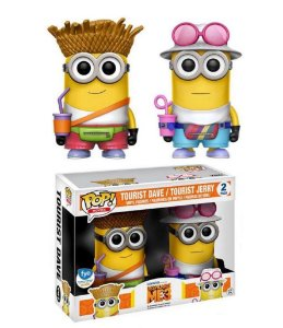 Funko Pop Disney Despicable Me 3 Tourist Dave e Tourist Jerry 2 Pack Exclusivo