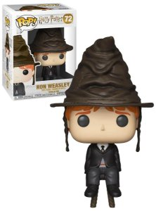Funko Pop Harry Potter Ron Weasley with Sorting Hat Exclusivo #72