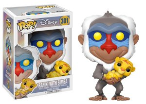 Funko Pop Disney O Rei Leão The Lion King Rafiki with Baby Simba #301