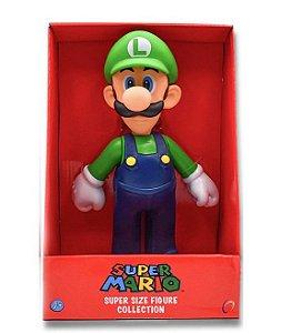 Boneco Luigi Super Mario Bros PVC 22cm