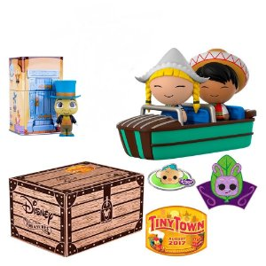 Funko Box Disney Treasures TinyTown Dorbz Ridez It's A Small World + Mini Mystery + Patch + Pin