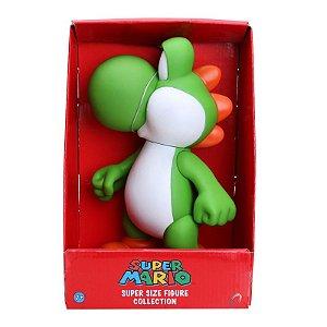 Boneco Yoshi Super Mario Bros PVC 23cm
